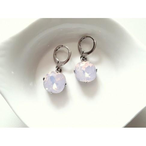 Lysine rose opal boucles d'oreilles mini creoles