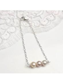 Bracelet trio perles de culture, bijoux mariage ou quotidien