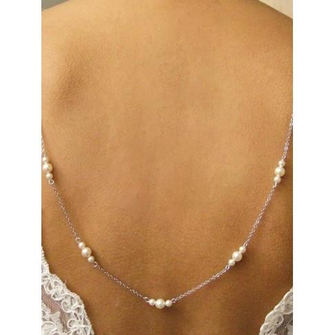 Elias collier de dos perles pour robe de mariée dos nu