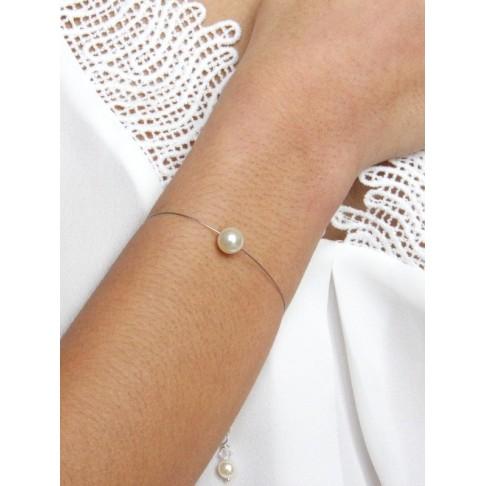 Bracelet de mariage une perle solitaire
