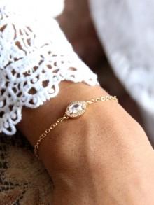 Piotr bijou mariage bracelet zirconium ovale