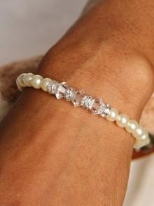 Bracelet de mariage perles Solène