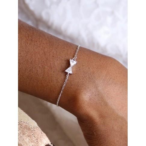Bracelet de mariage noeud en zirconium