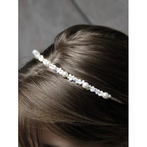 Diadème mariage, serre-tête perles