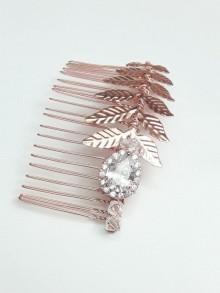 Iwan peigne mariage feuilles de laurier brodé de cristaux