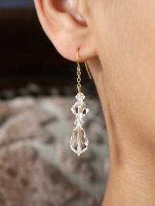 Boucles d'oreilles mariage en cristal Adam et plaqué or