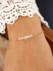 Bracelet de mariage en plaqué or et cristal Adam