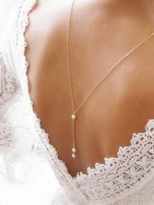 Bijoux mariage collier de dos Ethan
