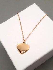 Collier pendentif coeur love en plaqué or