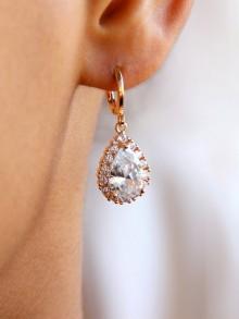 Mini créoles boucles d'oreilles mariage Bélinda
