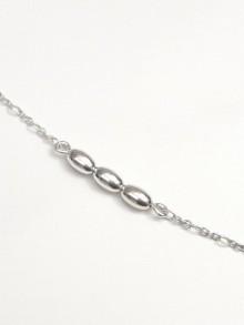 Bracelet argent trio de perles ovales