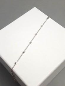 Bijou bracelet intemporel chaîne boules plaqué or ou argent