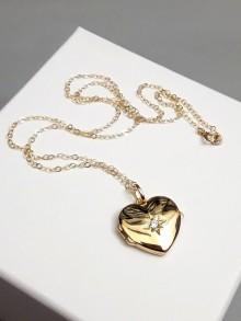 Collier pendentif porte-photo coeur cassolette