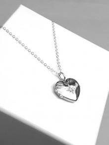 Collier pendentif porte-photo coeur cassolette en argent