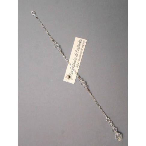 Bijoux de dos mariage Cascade pendentif perles en cristal