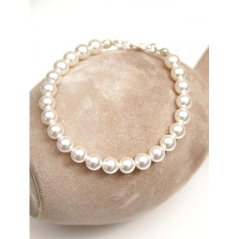 Bracelet minimaliste perles mariage