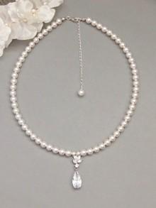 Commande personnalisée collier de perles et zirconium