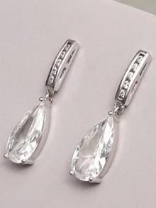 Boucles d'oreilles mariage gouttes larmes en zirconium