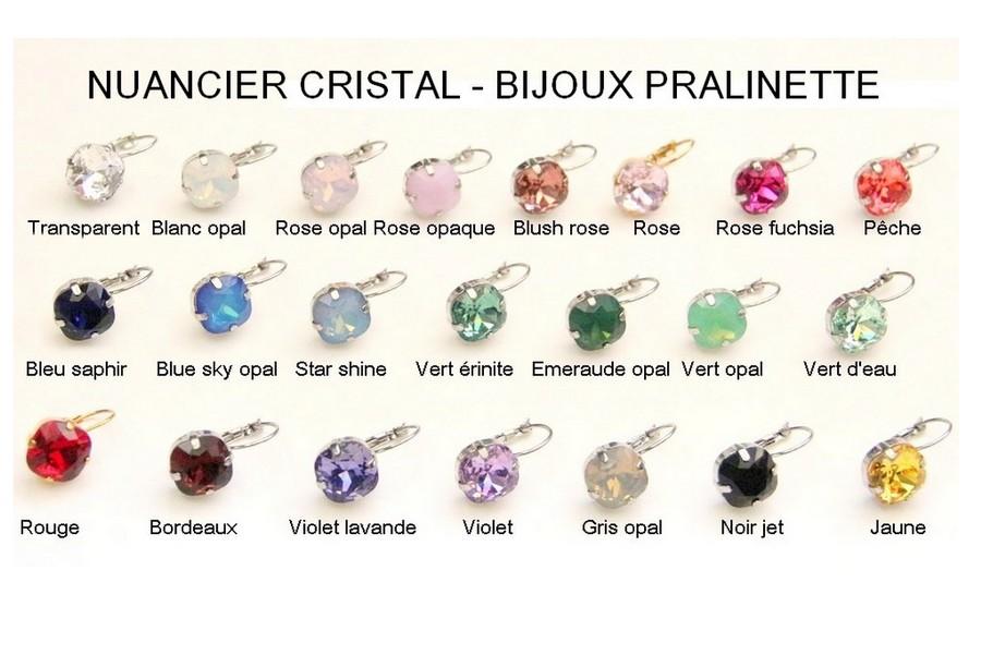 Nuancier cabochons en cristal bijoux mariage personnalisés