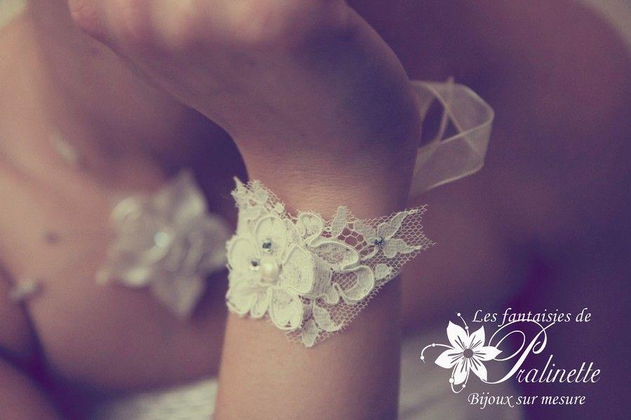 Bracelet de mariage en dentelle Isobel