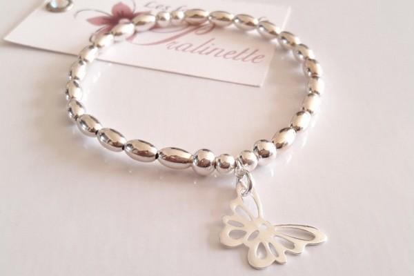 Bracelet intemporel grigri porte-bonheur en argent, témoins mariage demoiselles d'honneur