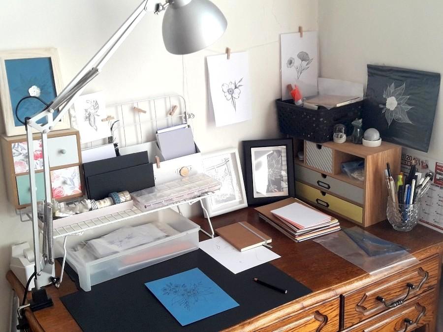 Mon worspace atelier espace de travail