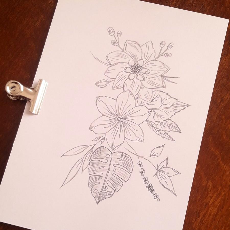 Dessin illustration florale