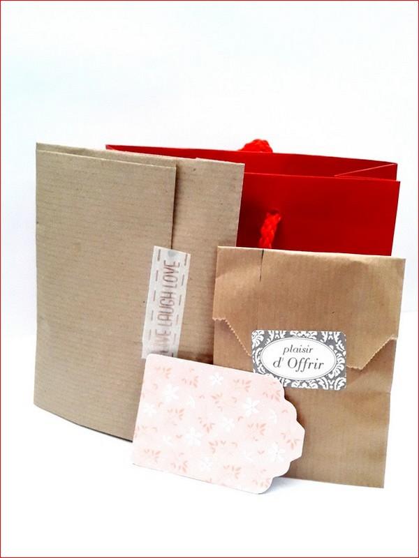 Emballage bijoux mariage sac rouge