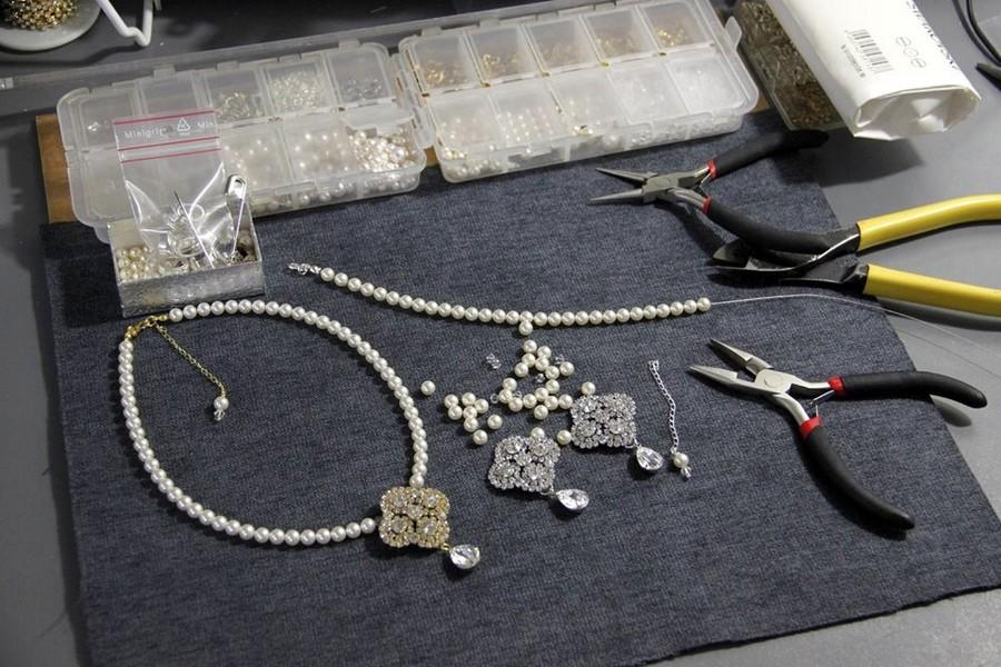 Bijoux mariage perles rétro vintage