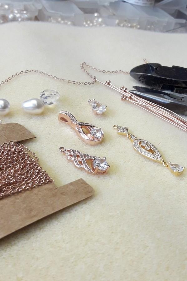 Bijoux mariage et accessoires rose gold