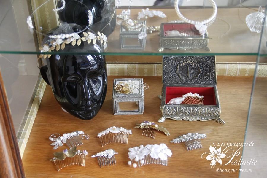 Jolis peignes mariées - Atelier bijoux mariage