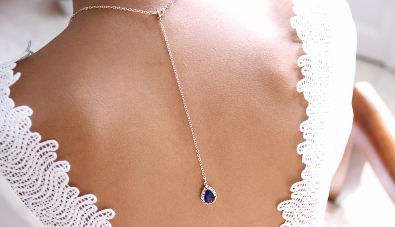 Bijoux de dos mariage en zirconium